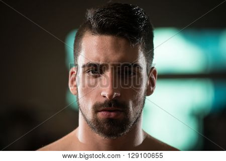 Portrait Of A Young Sporty Man With Beard