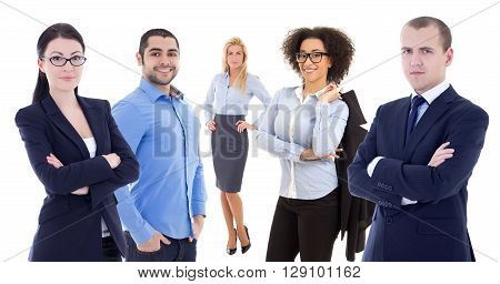 Multicultural Team - Young Business People Isolated On White