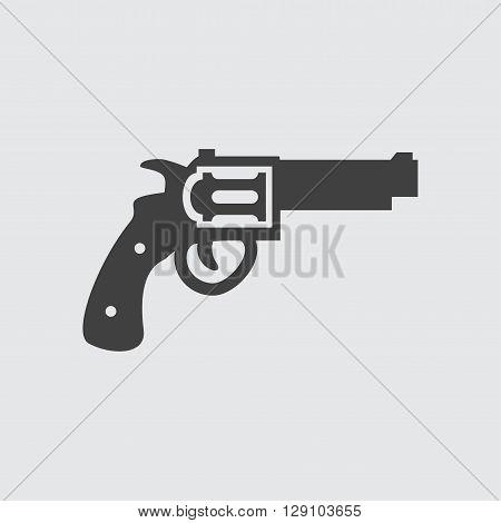 Revolver icon illustration isolated vector sign symbol