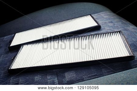 The air filter on the car seat
