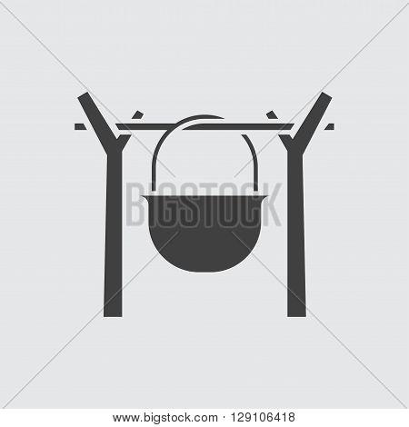 Cauldron icon illustration isolated vector sign symbol