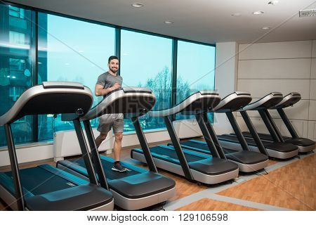 Young Man On Treadmill