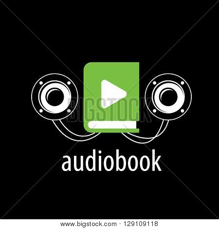 Abstract pattern audiobooks logo. Illustration vector icon
