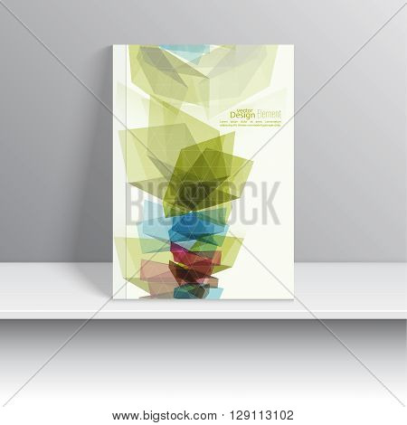 Magazine Cover with colored crystals, trellis structure. For book, brochure, flyer, poster, booklet, leaflet, postcard, business card, annual report. vector illustration. abstract background.
