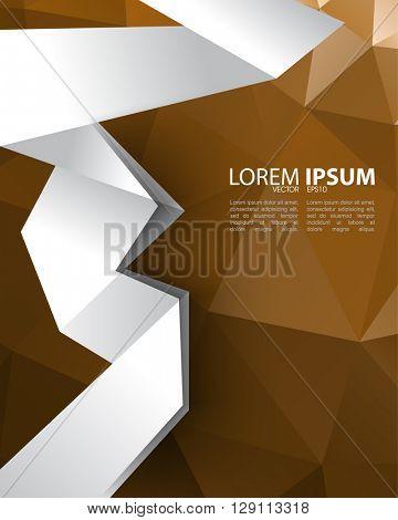 eps10 vector polygon elements folded paper concept design