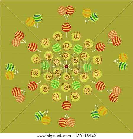 Bright background with candies. Colorful assorted candy