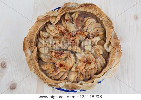 Home Made Caramelized Apple Tart With Cinnamon