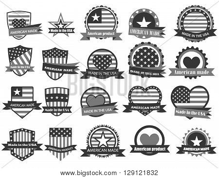 Made In The Usa Labels In Gray Colors