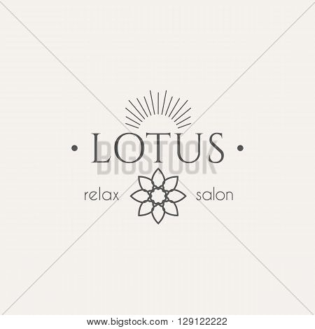 Asian health and beauty logo template. Vector ethnic ornamental design for beauty salons, spa, massage, saunas, healthcare and medicine.
