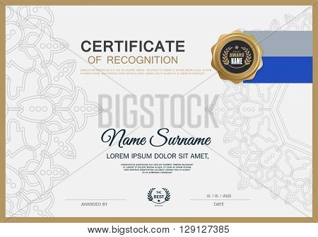 Certificate of achievement frame design template Certificate of achievement frame design template