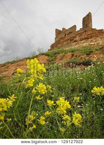Ruins of Montuenga castle, Castilla la Mancha, Spain