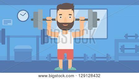 Man lifting barbell.