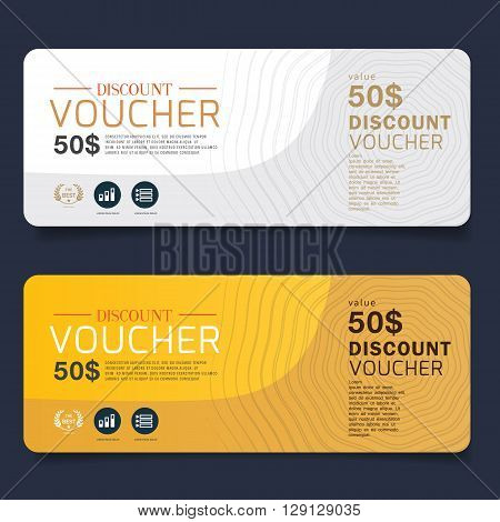 Gift Voucher Premier Gold.Vector Gift Voucher template with premium vintage. vector