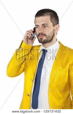 Businessman Listens With Concentration