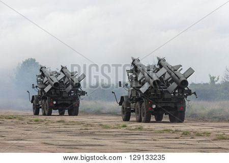 Two Mobile Antiaircraft Missile Complexes