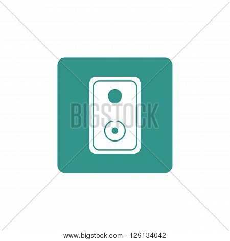 Speaker Icon In Vector Format. Premium Quality Speaker Symbol. Web Graphic Speaker Sign On Green Bac