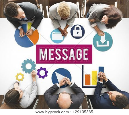 Message Internet Information Digital Networking Search Concept