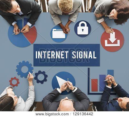 Internet Signal Hotspot Networking Concept