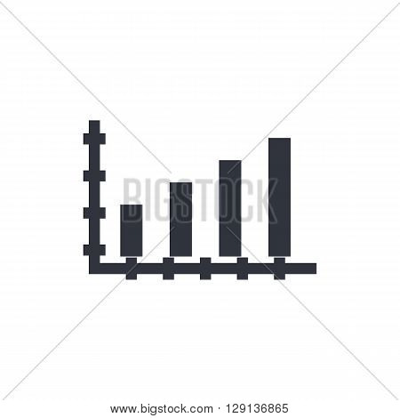 Bar Chart Icon In Vector Format. Premium Quality Bar Chart Symbol. Web Graphic Bar Chart Sign On Whi