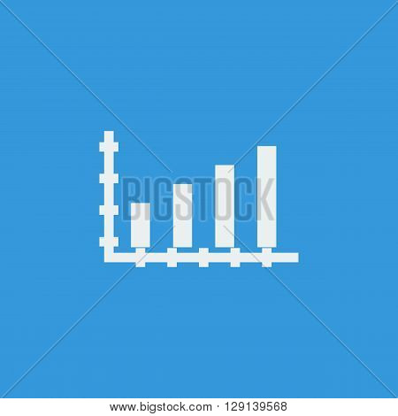 Bar Chart Icon In Vector Format. Premium Quality Bar Chart Symbol. Web Graphic Bar Chart Sign On Blu