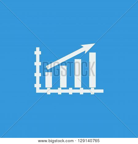 Stats Up Icon In Vector Format. Premium Quality Stats Up Symbol. Web Graphic Stats Up Sign On Blue B