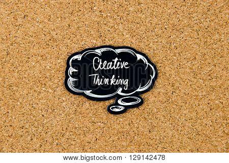 Creative Thinking Written On Black Thinking Bubble