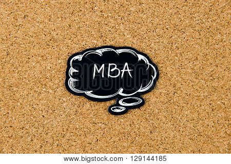 Mba Written On Black Thinking Bubble