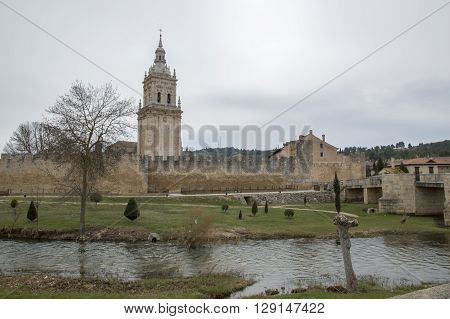 River and bell tower in El Burgo de Osma