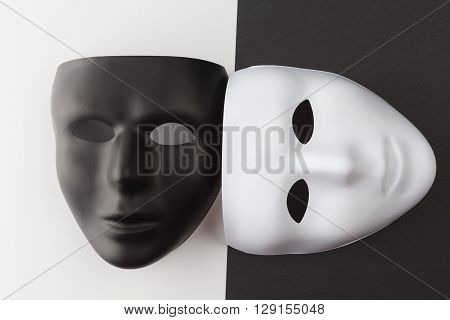 Black And White Masks At Different Angles.