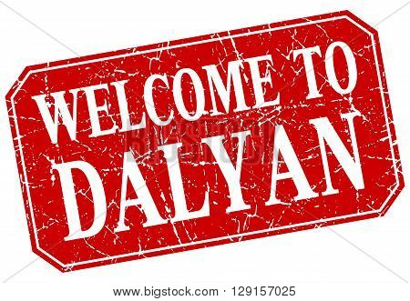 welcome to Dalyan red square grunge stamp