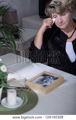 Woman Looking At The Photo