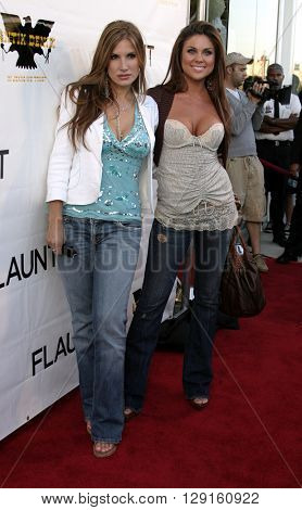Camilla Bjorlin and Nadia Bjorlin at the Flaunt Magazine Hosts Antik Denim's Party at the Antik on Melrose Hollywood, USA on August 18, 2005.