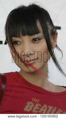 Bai Ling at the Flaunt Magazine Hosts Antik Denim's Party at the Antik on Melrose Hollywood, USA on August 18, 2005.