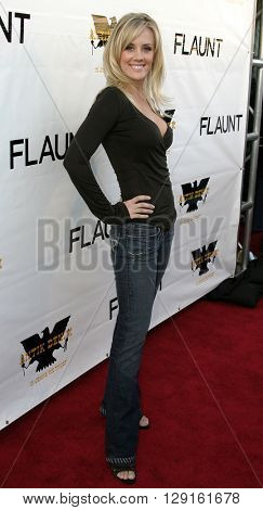 Amy McCarthy at the Flaunt Magazine Hosts Antik Denim's Party at the Antik on Melrose Hollywood, USA on August 18, 2005.