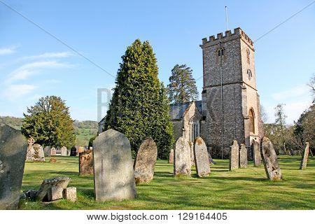 The Devon Church of Upottery dedicated to St Mary the Virgin dates from the 12th century