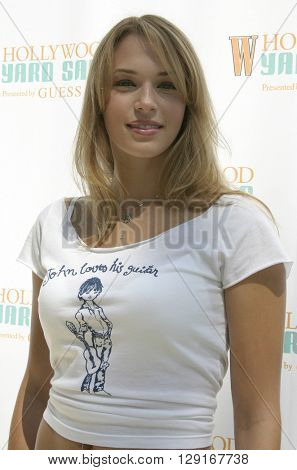Amanda Righetti at the W Magazine Hollywood Yard Sale held at the W Mag in Los Angeles, USA on September 12, 2004.