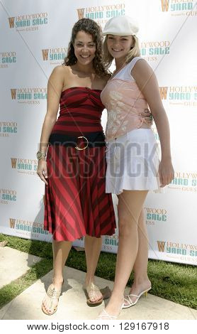 Heather Lindell and Martha Madison at the W Magazine Hollywood Yard Sale held at the W Mag in Los Angeles, USA on September 12, 2004.