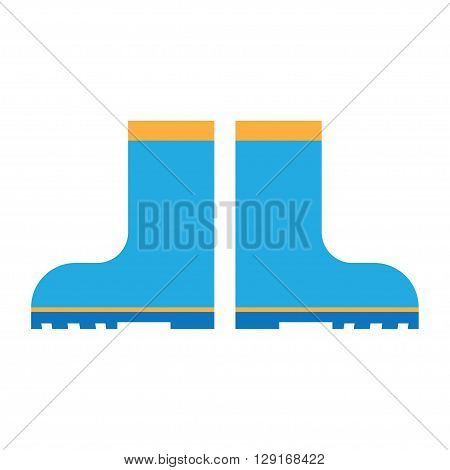 rain boots flat icon. vector illustration. Flat icon isolated on a white background