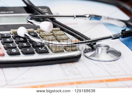 Concept of medical expenses high quality studio shot