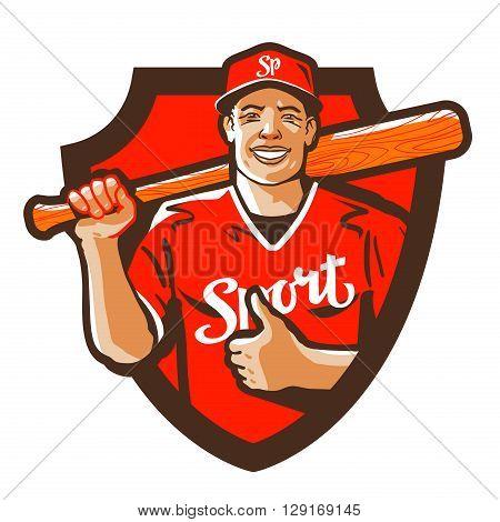 sport vector logo. baseball or cricket icon