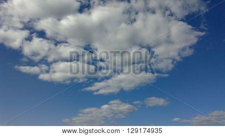 céu, nuvens, azul, dia, claro, algodão, formas