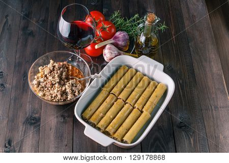 Italian Cannelloni Ingredients