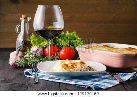 Mediterranean Dinner With Lasagne