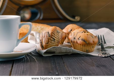 Group Of Muffins On Table