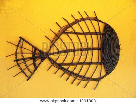 Wicker Stick Fish Craft