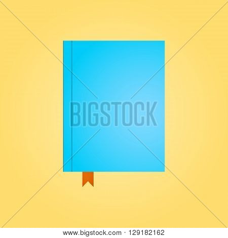 Blue Closed Diary In Top View