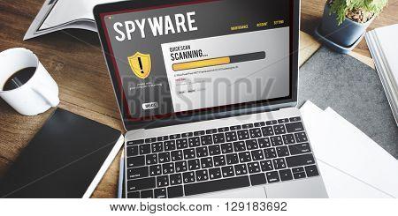 Spyware Computer Internet Malware Communication Concept