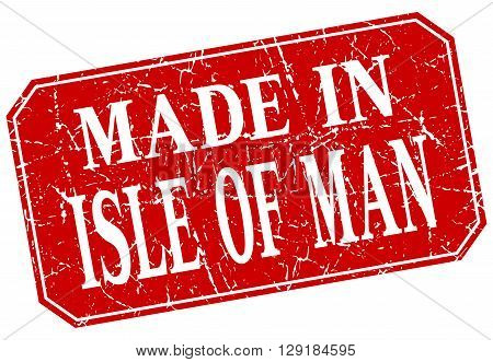 made in Isle Of Man red square grunge stamp