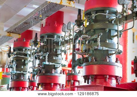Deluge system of fire fighting system foe emergency of fire case in oil and gas field