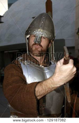 A soldier at the Los Angeles premiere of 'Vlad' at the Arclight Cinemas in Hollywood, USA on September 8, 2004.